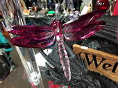 Pink Acrylic Hanging Dragonfly