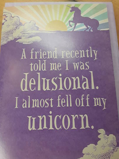 Awesome Unicorn Happy Birthday Gift Card