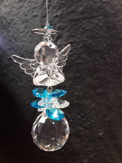 Angel of Prayer Suncatcher Aqua