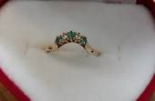 9kt Gold Emerald and Diamond Ring