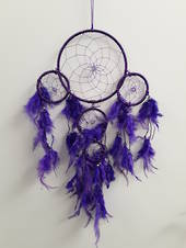 Bright Purple Threaded Dreamcatcher