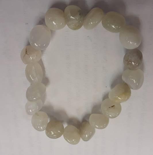 Rainbow Moonstone Bead Bracelet