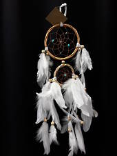 Twisted Cane and Turquoise Beads Dreamcatcher