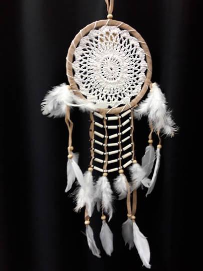Fawn Crochet Bone Beads Dreamcatcher