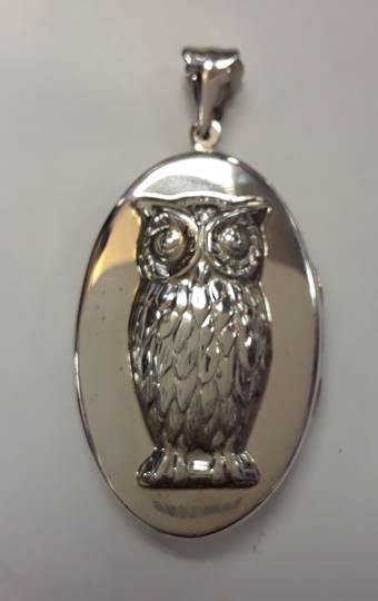 Sterling Silver Owl Locket