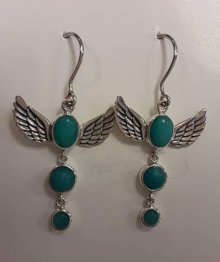 Winged Amazonite Earrings
