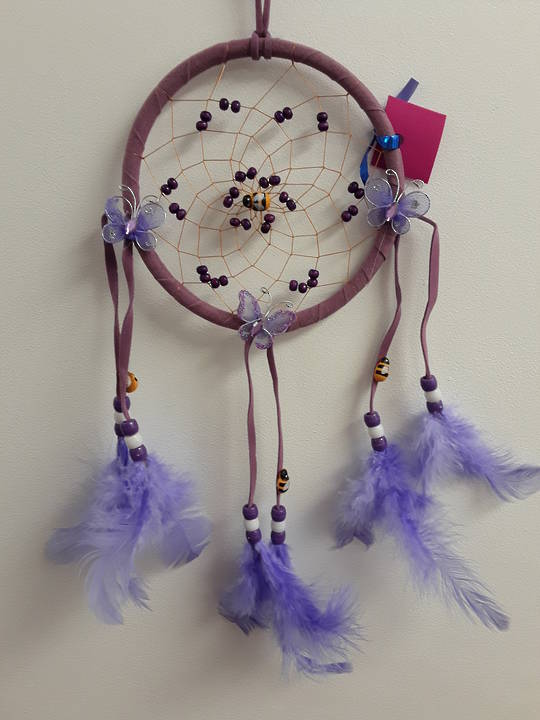Bees and Butterflies Dreamcatcher