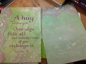 A Hug Card and Envelope