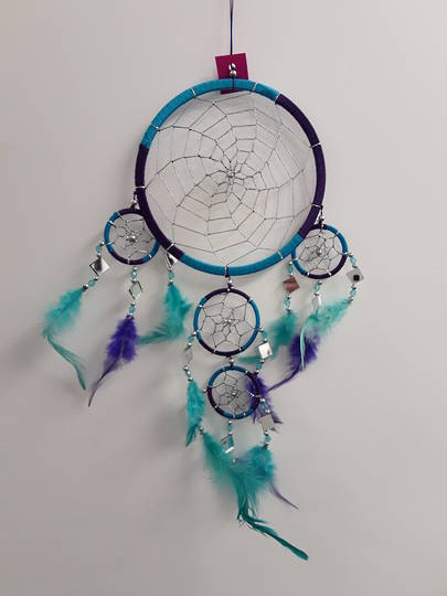 Teal and Purple Mirrors Dreamcatcher