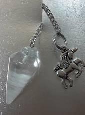 Quartz Plumbob Pendulum with Unicorn (P881)