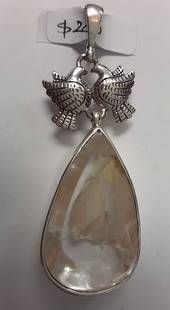Manifestation Twin Doves Pendant