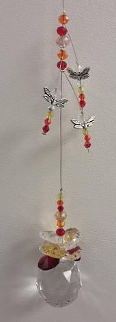Orange/Lemon/Red Dragonfly Suncatcher