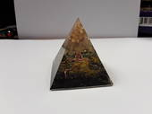 Quartz Tree on Tourmaline Base Orgonite Pyramid