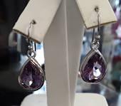 Beautiful Amethyst Drop Sterling Silver Earrings