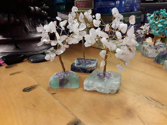 Rose Quartz Tree on a Fluorite Base 15cms