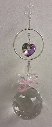 Circle of Love Pink Suncatcher