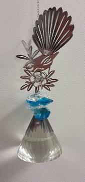 Blue Cluster Diamond Fantail Suncatcher