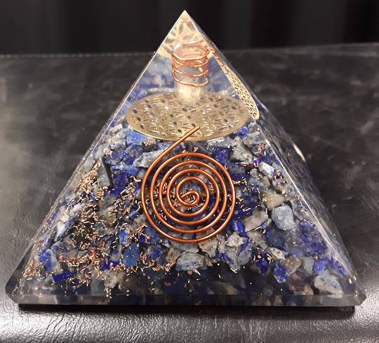 Lapis Crystal Orgonite Pyramid