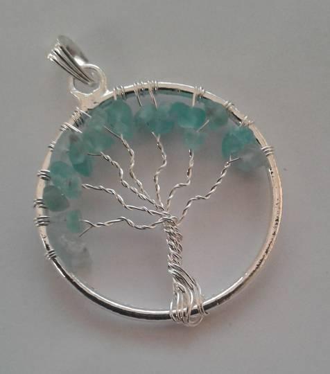 Blue Onyx Tree Pendant