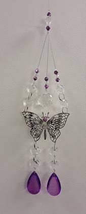 Purple Double Butterfly Suncatcher