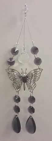 Dark Purple Double Butterfly Suncatcher