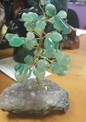 Green Aventurine Crystal Tree on Amethyst Base