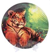 Tiger Porcelain Plate with Stand