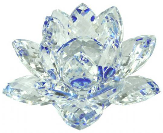 Blue Crystal Lotus 40mm