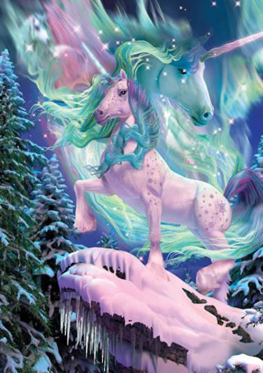 Aurora Unicorn Card and Envelope by David Penfound