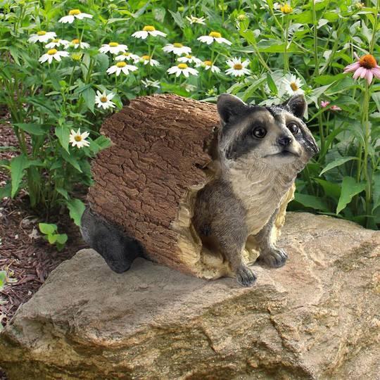 Bandit, the Raccoon Statue