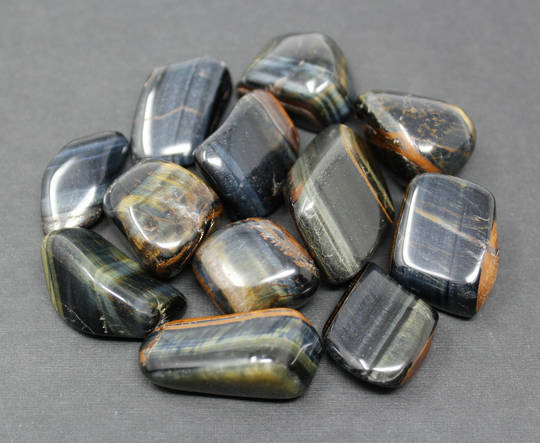 Medium Blue Tigers Eye Crystal Tumbled Piece