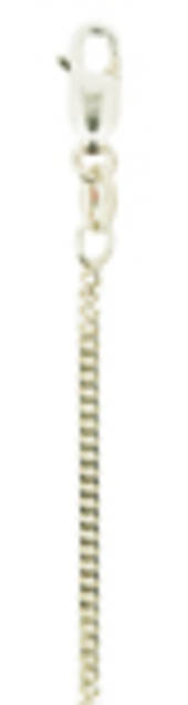 MEDIUM FINE DIAMOND CUT CLOSE CURB LINK CS50/50 - Sterling Silver Chain