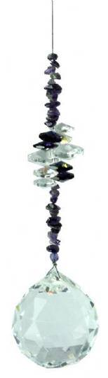 Extra Large Cluster Ball  Amethyst Suncatcher