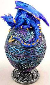 Blue Dragon on Egg Box