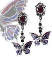 Death's-Head Butterfly Studs (Pair)