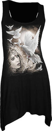 Black Angel Doves Singlet Tunic (L) was $65 now $35