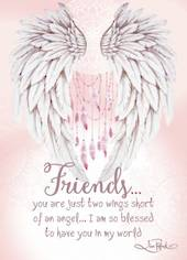 Friends Ceramic Plaque - Wings Of Love