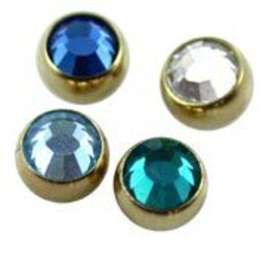 Zircon Gold Clip in Ball