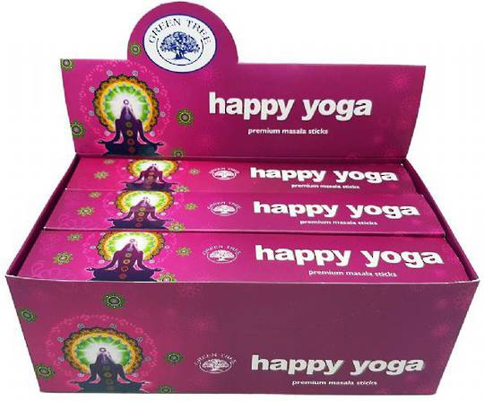 Green Tree Happy Yoga Incense 15gm