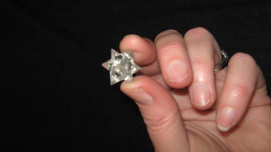 Carved 11 point  Quartz Star Merkaba