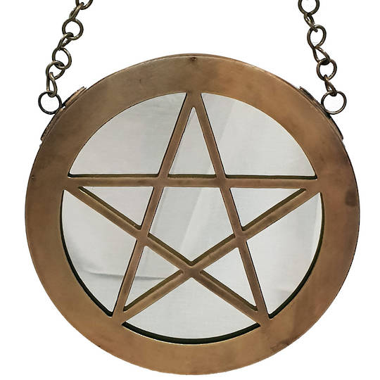 Pentacle Mirror Wall Hanging