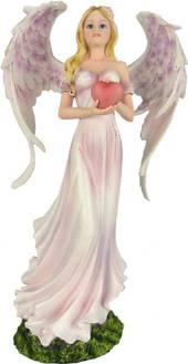 Pretty Pink Angel Holding a Heart was $130 now $65