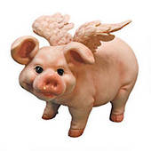 Standing Flying Pig