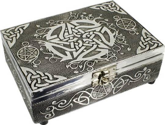 White Metal Box Pentacle