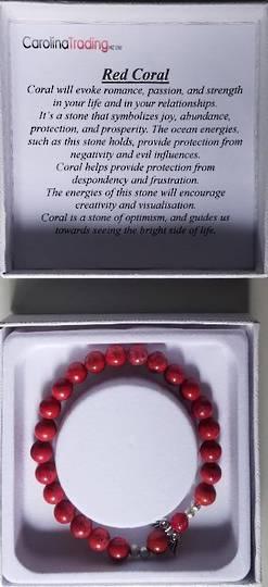 Red Coral Angel Bracelet