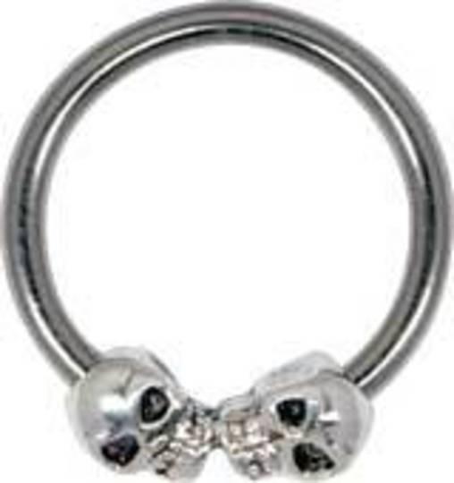 Silver Skulls Closure Ring