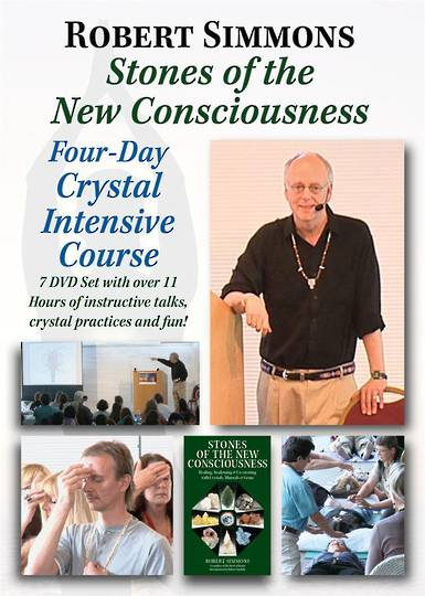 "Robert Simmons: ""Stones of The New Consciousness Four-Day Crystal Intensive"" (7-DVD Set) was $100 now $50"