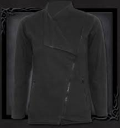 Slant Zip Women Biker Jacket Black L was $120 now $60