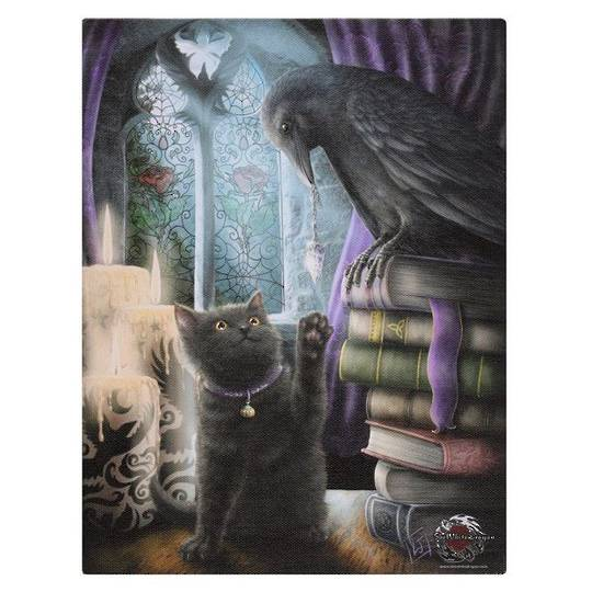 Small Familiarity Cat Canvas