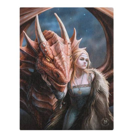 Small Friend or Foe Dragon Canvas